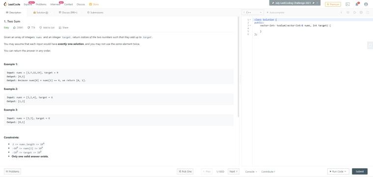 LeetCode 001 – Two Sum 筆記